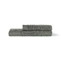 埃及进口长绒棉毛浴巾组合银灰(毛巾+浴巾)x1条