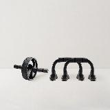 健身训练小器械组合健腹轮+俯卧撑支架