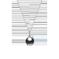 法国大溪地黑珍珠18K金镶钻项链项链
