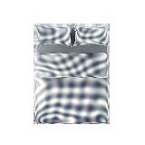 日式全棉格纹四件套 新款1.5m床:适用2mx2.3m被芯*蓝色小格纹 (床笠款)