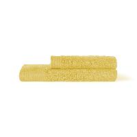 埃及进口长绒棉毛浴巾组合嫩黄(毛巾+浴巾)x1条