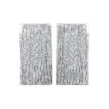 纯色羊绒混纺露指手套灰色