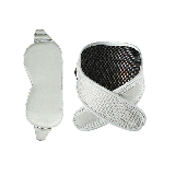 石墨烯熱敷 真絲眼罩+護頸套組眼罩灰色-護頸灰色
