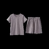 竹節棉短袖套裝(兒童)棕色*90cm