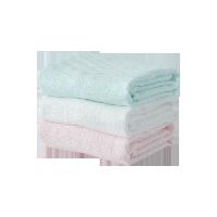 六层超柔纱布童巾(婴童)白色+粉色+绿色