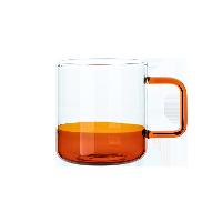 手工拼色耐热玻璃杯蜜蜡黄