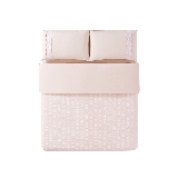 水洗棉泡泡纱四件套1.5m(5英尺)床*裸粉色(床单款)