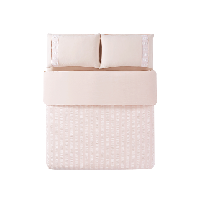 水洗棉泡泡紗四件套1.5m(5英尺)床*裸粉色(床單款)