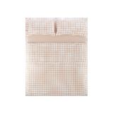 日式全棉格纹四件套 新款1.5m床:适用2mx2.3m被芯*粉色大格纹(床单款)