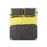 撞色全亞麻四件套1.5m床:適用2mx2.3m被芯*黃色