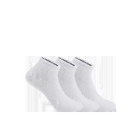 男式干爽运动船袜白色(三双装)
