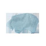 婴童定型记忆枕河马款蓝色