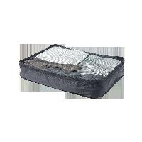 梭織布可折疊旅行收納包黑色 大款 單層