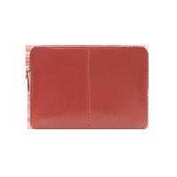 牛皮時尚MAC電腦包磚紅