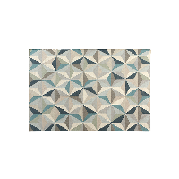 羊毛手工地毯岩井蓝