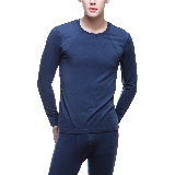 男式速暖功能内衣套装丹宁蓝*XL