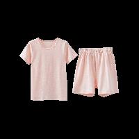 竹節棉短袖套裝(兒童)粉色*110cm