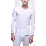 男式隐形莫代尔内衣套装白色*M