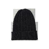 纯色羊绒混纺针织帽子黑色