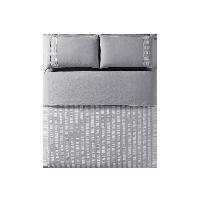 水洗棉泡泡纱四件套1.5m(5英尺)床*中灰色(床笠款)