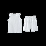 竹節棉背心套裝(兒童)白色*100cm