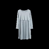 隱形便哺乳連衣裙青灰色均碼