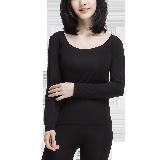 女式隐形莫代尔内衣套装黑色*S