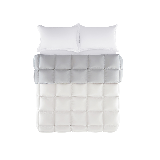 法国90%白鸭绒羽绒被春秋被200*230cm*750g*水貂灰+纯白色