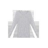 女式咖啡碳保暖内衣(可单买上衣/裤子)浅麻灰保暖上衣*S