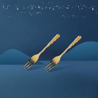 鎏金甜品叉/水果叉 2支装2支装