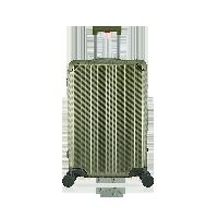 24寸碳纖維紋鋁鎂拉桿箱行軍綠