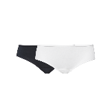 女式基础柔弹精梳棉内裤(黑色+白色)2条*L