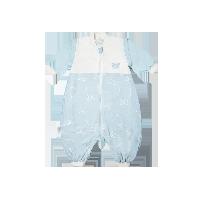 可拆袖双层分腿睡袋80/48:建议身高72-88cm*蓝色小书虫