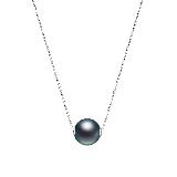 法国大溪地黑珍珠18K金项链项链