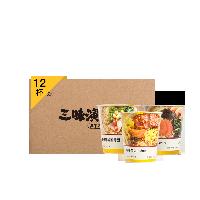 三味演义冻干方便面 12枚入大虾面4盒  私厨牛肉面4盒  藤椒豚骨面4盒