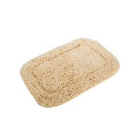 全棉单面割绒浴室地垫长61*宽43cm*玉子驼