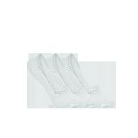 女式纯色抑菌隐形袜蓝灰(三双装)