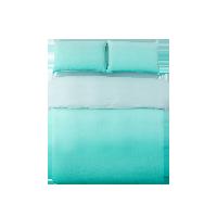 淡墨天絲麻漸變四件套1.5m床:適用2mx2.3m被芯*漸變綠