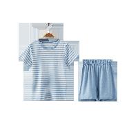小童草木染短袖套装 2-7岁蓝色*120cm