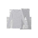 女式咖啡碳保暖内衣(可单买上衣/裤子)浅麻灰套装*XL
