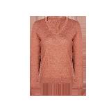 女式可机洗V领纯羊毛衫鲑鱼粉*M(165/84A)≈155g