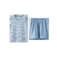 小童草木染背心套裝 2-7歲藍色*90cm