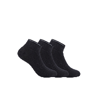 男式干爽运动船袜黑色(三双装)