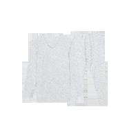 男式高奢羊毛内衣套装米白色*XL