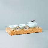 龍泉官窯茶器茶盤4件套1壺2杯1茶盤