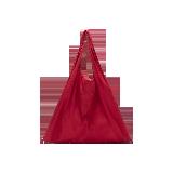 可折叠防水购物袋红色