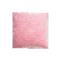 日式纯棉针织条纹抱枕珍珠粉