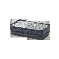 梭織布可折疊旅行收納包黑色 中款 雙層