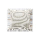 日式色織水洗棉條紋靠墊枯野灰