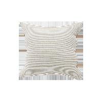 日式色织水洗棉条纹靠垫枯野灰